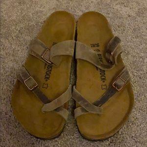Birkenstock's sandals never worn